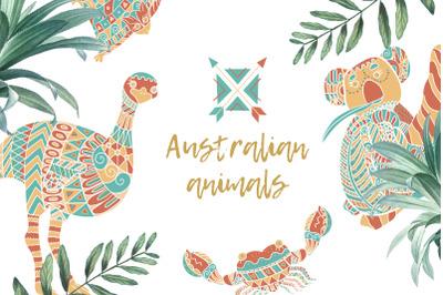 Australian animals vector collection.