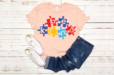 Be Kind Puzzle Autism Awareness 1705s