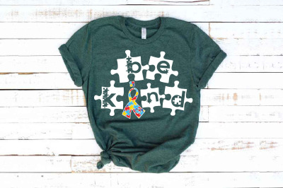 Be Kind svg Autism Awareness In A World Where You Can Be Anything 1709
