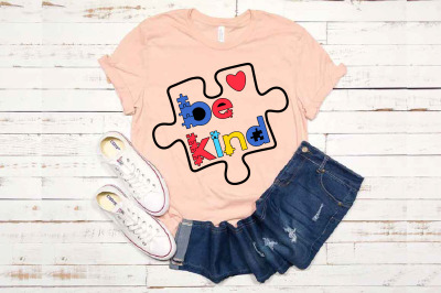 Be Kind svg Autism Awareness In A World Where You Can Be Anything 1712