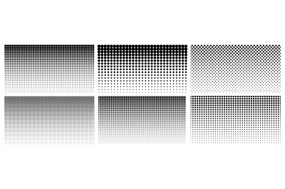 Halftone gradient. Dotted gradient&2C; smooth dots spraying and halftones
