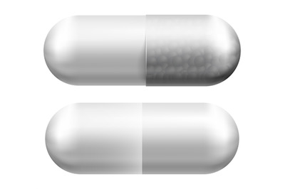Medical pill. Vector illustration isolated on white background