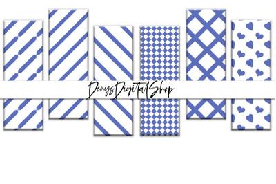 Digital Stripes Bookmarks, Bookmarks Blue Stripes