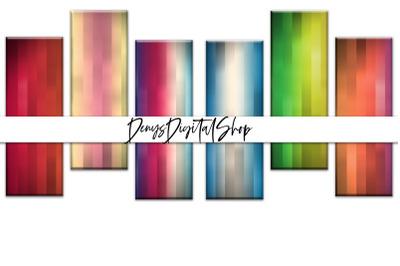 Digital Rainbow Papers, Digital Rainbow Bookmarks