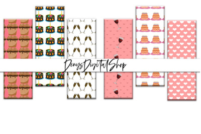 Love Papers, Love Bookmarks, Digital Love Bookmarks