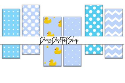 Baby Boy Digital Bookmarks, Digital Download, Baby Boy Blue