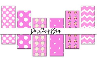 Baby Girl Digital Bookmarks, Baby Girl Shower