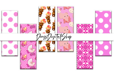 Digital Baby Shower, Pink baby girls