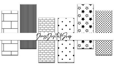 Digital Stripes, Stripes Background, Black and White