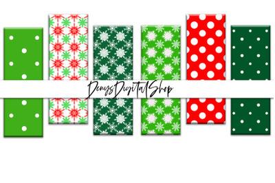 Digital Christmas Bookmarks, Christmas Printable