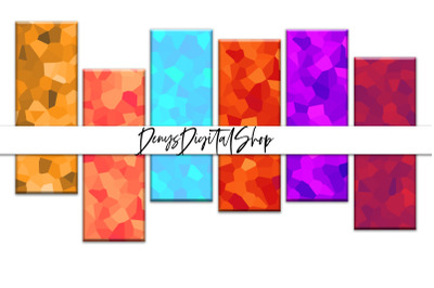 Digital Crystal Bookmarks, Colorful Crystal Papers