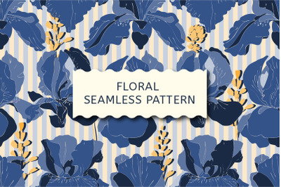 Art floral vector seamless pattern.