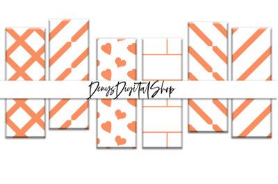 Digital Bookmarks, Orange Papers, Orange Bookmarks