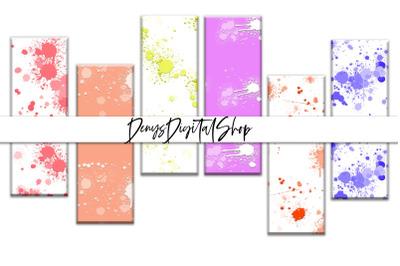 Digital Splatter Papers, Digital Bookmarks Papers