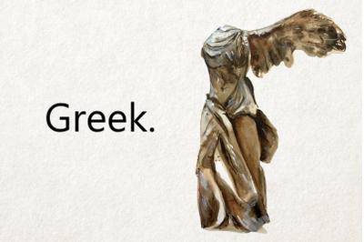 Greek - Watercolor Clip Art Set