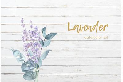 Lavender watercolor set.