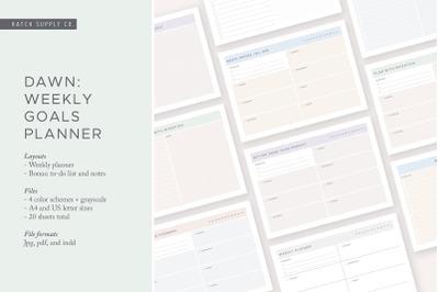 Dawn: Weekly Goals Planner