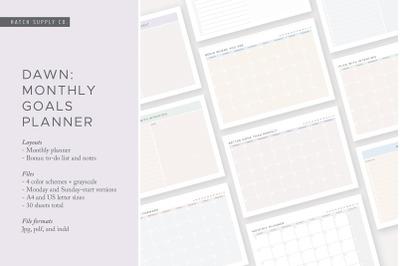 Dawn: Monthly Goals Planner