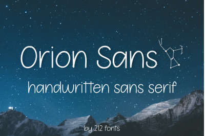Orion Sans Serif Clean Handwritten Font