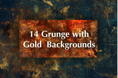 Grunge with Gold Backgrounds Textures