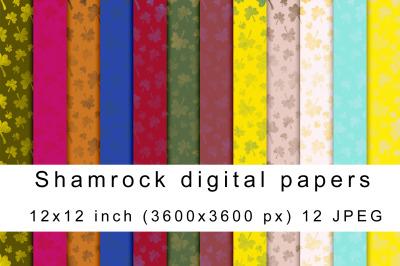 Shamrock digital papers