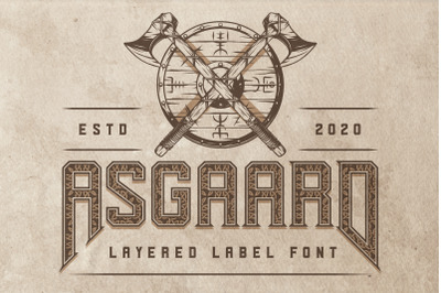 Asgaard layered label font