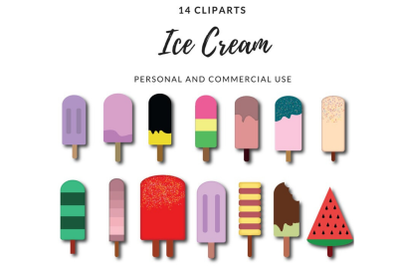 Ice cream clipart, Popsicle clipart, Ice cream popsicle clipart
