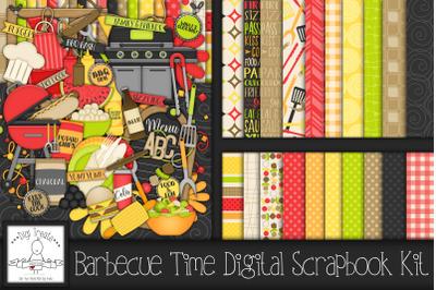 Barbecue Digital Scrapbook Kit.