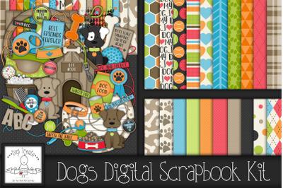 Dogs Digital Scrapbook Kit.