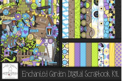 Enchanted Garden Digital Scrapbook Kit.