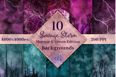 Savage Storm Maroon and Green Edition Backgrounds