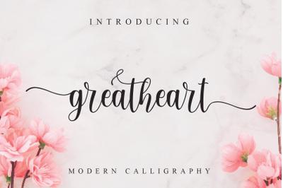 Greatheart modern calligraphy