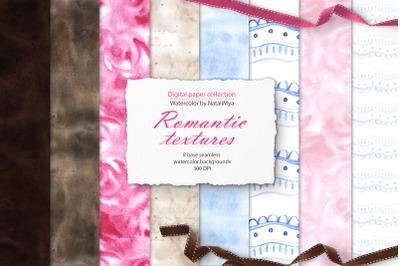 Watercolor romantic textures