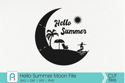 Summer Svg, Summer Clip Art, Crescent Moon Svg, Moon Svg,Svg