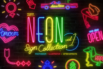 Neon Sign Collection: Volume One