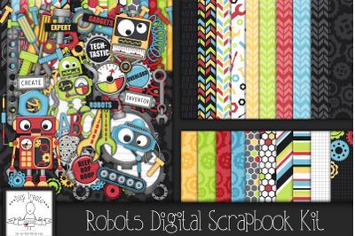 Robots Digital Scrapbook Kit