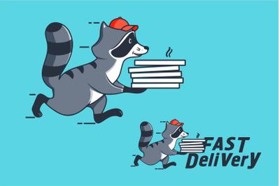 Funny Raccoon, cartoon character
