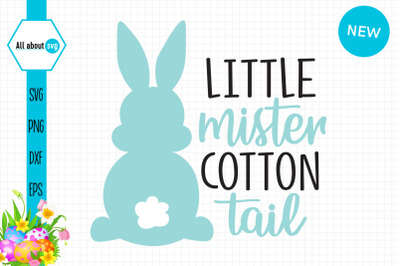 Little Mister Cotton Tail, Easter Bunny Boy Svg