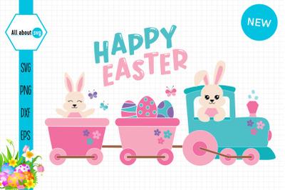 Easter Bunny Train Svg, Train Svg, Easter Svg
