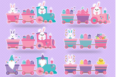 Easter Train Bundle Svg, Easter Bunny Svg, Easter Bundle Svg