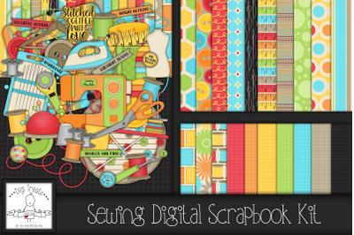Sewing Digital scrapbook Kit.