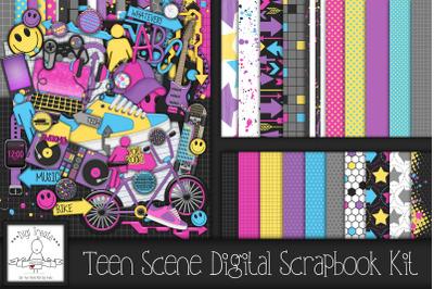 Teen Scene Digital Scrapbook Kit