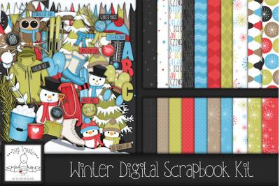 Winter Fun Digital Scrapbook Kit