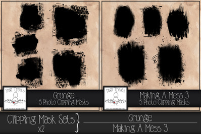 Clipping Mask Sets x2. Grunge & Making A Mess 3