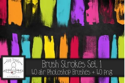 Brush Strokes Set 1 PNG & Photoshop Brush Set.