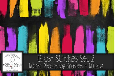 Brush Strokes Set 2 PNG & Photoshop Brushes.