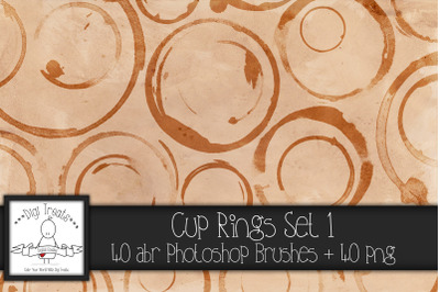 Cup Rings Set 1 PNG & Photoshop Brush Set.