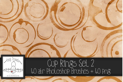 Cup Rings Set 2 PNG & Photoshop Brush Set