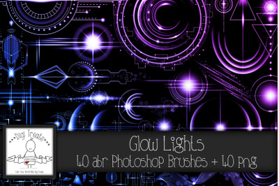 Glow Lights PNG & Photoshop Brushes.