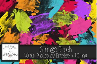 Grungy Brush PNG & Photoshop Brush Set.